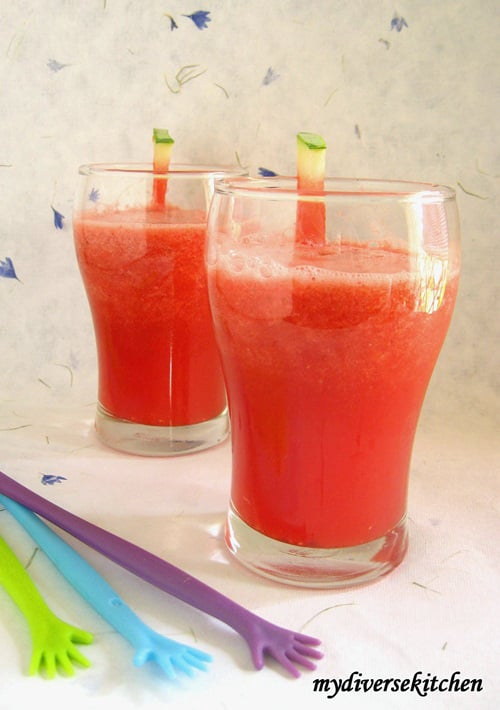 Chilled Watermelon Juice/ Soup/ Granita – The Perfect Summer Cooler (GF, V)