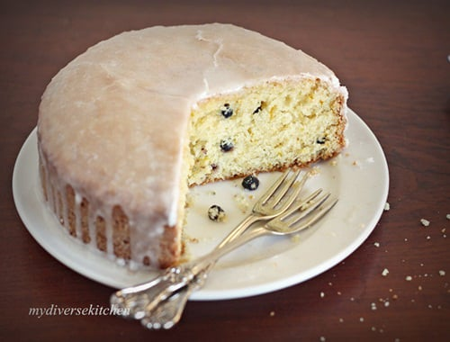 French Style Lemon & Yogurt Cake – Gâteau au Citron With Blueberries