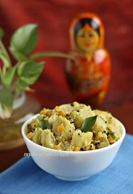 Knol-Khol Kootu – Kohlrabi With Spiced Coconut Paste And A Giveaway!