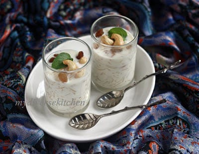 Semiya Payasam – A South Indian Style Vermicelli And Milk Sweet/ Pudding