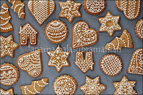 Festive Decorated Gingerbread Cookies