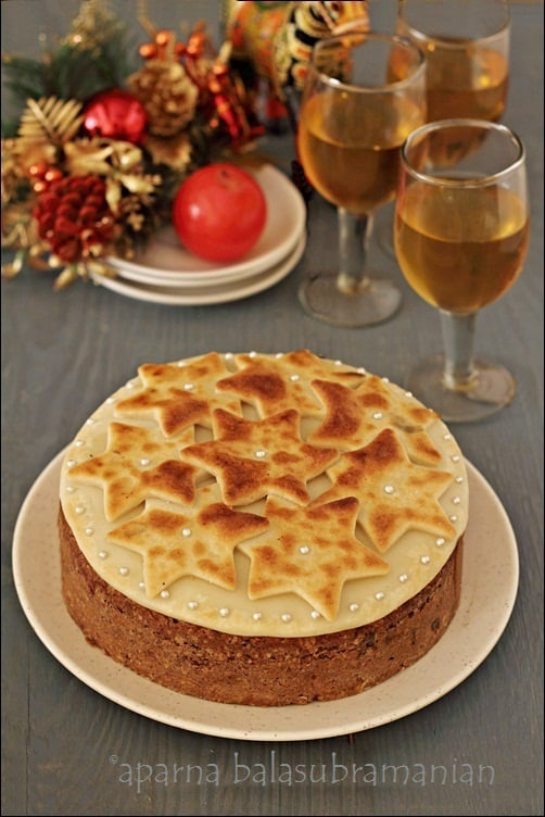 A Light Alcohol-free Fruit Cake Decorated With Marzipan ...