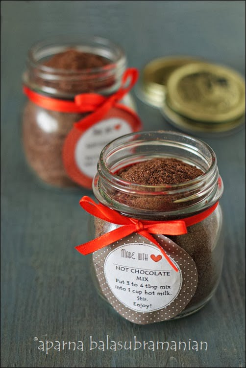 "Make-It-At-Home Series : Spiced Hot Chocolate Mix (GF) & The Winner of The ""Tadka Girls"" Cookbook Giveaway"