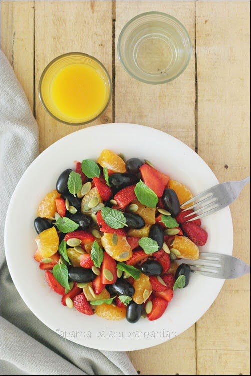 Grape, Strawberry and Mandarin Orange Salad