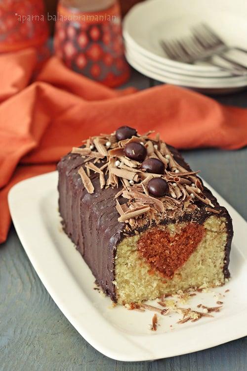 Hidden Heart Loaf Cake/ A Surprise Inside Cake