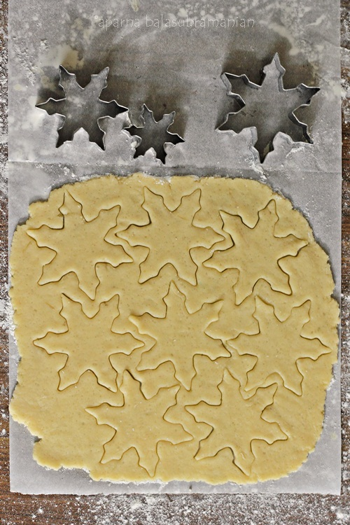 Crisp Marble Glazed Snowflake Cookies dough