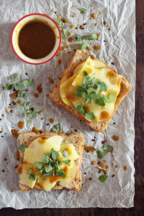Apple and Cheddar Cheese Sandwich