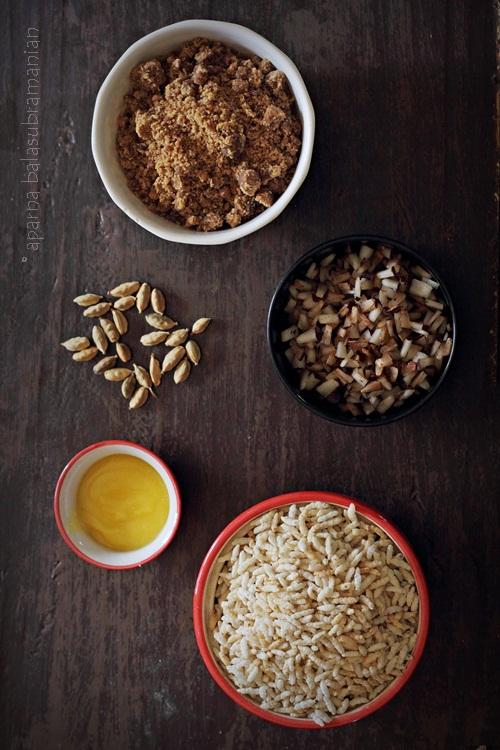 Karthigai Vella Pori Ingredients