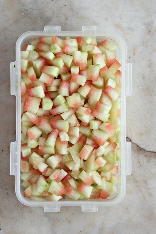 Watermelon Rind Chopped