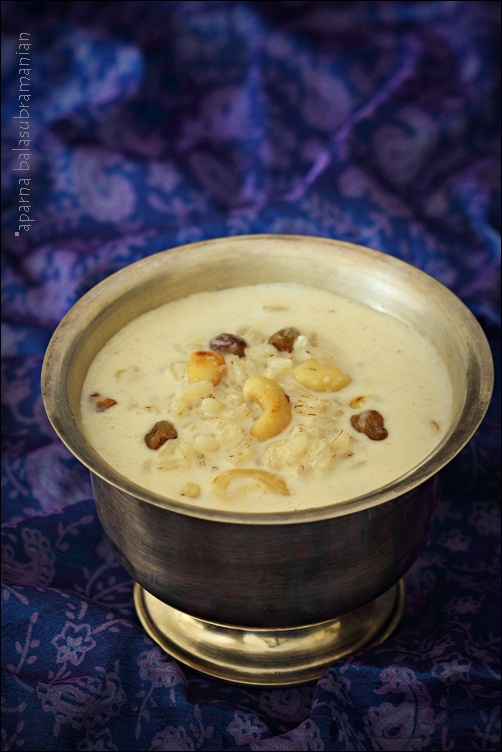 Paal Payasam or Rice Pudding