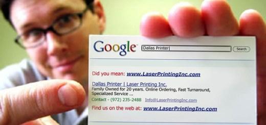 Google temalı kartvizit