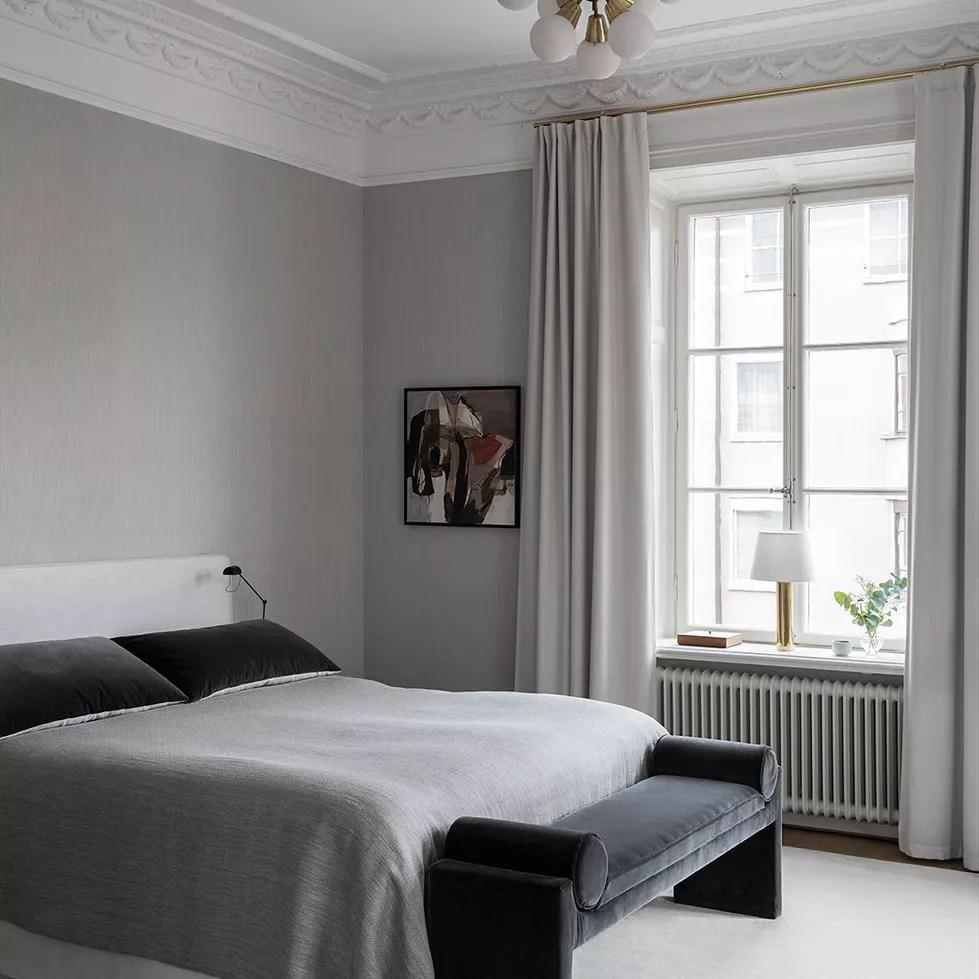 Sleek modern bedroom