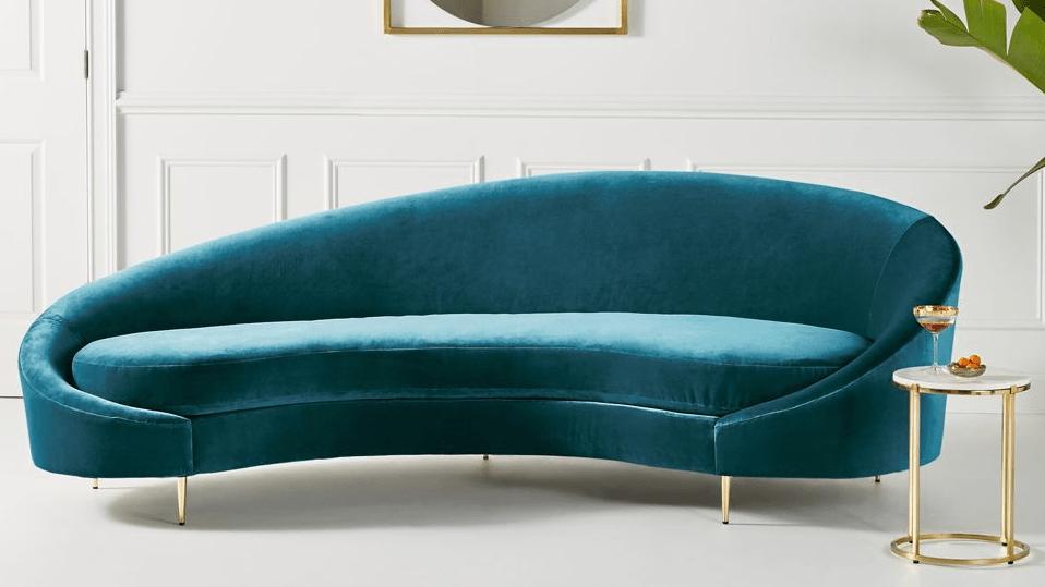found the best 11 blue velvet sofas