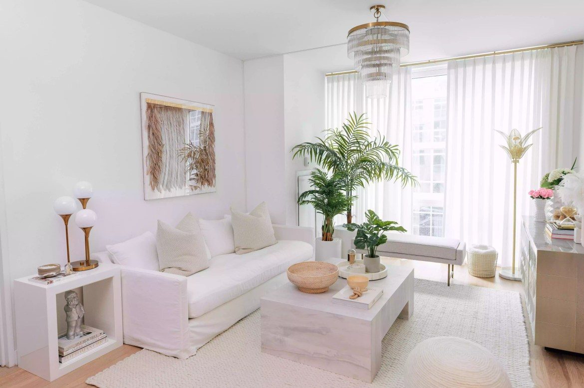 Living room inspired by Miami hotel.