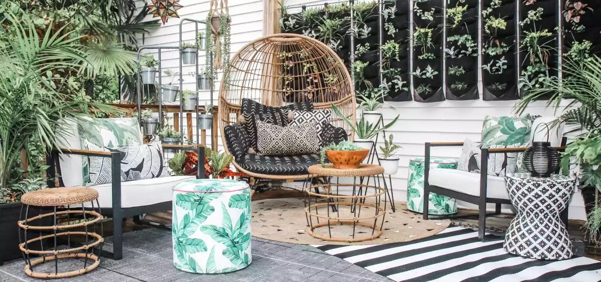 back patio boho style
