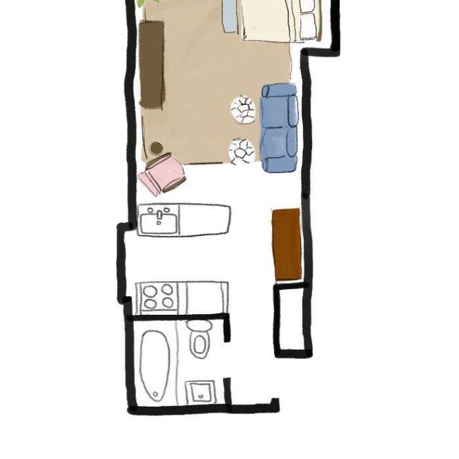One Studio Apartment 4 Ways Follow Our