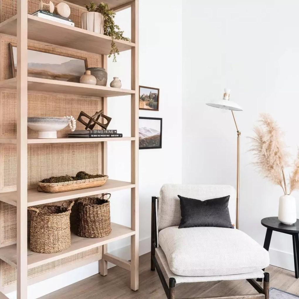 Bookshelf in a living room