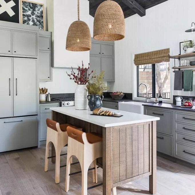 Wooden ceiling kitchen