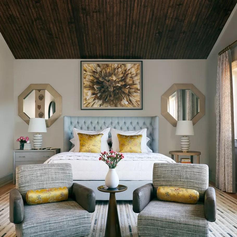 Wooden ceiling bedroom