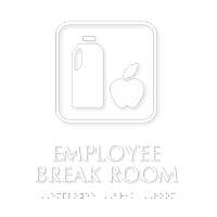 Employee Break Room Symbol TactileTouch™ Sign with Braille ...