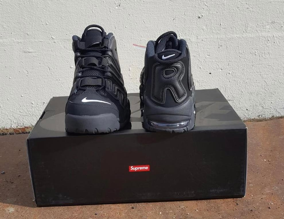 reputable site 375f4 f2cf2 Images Of The Anticipated Supreme x Nike Air More Uptempo Collab Hit The Web