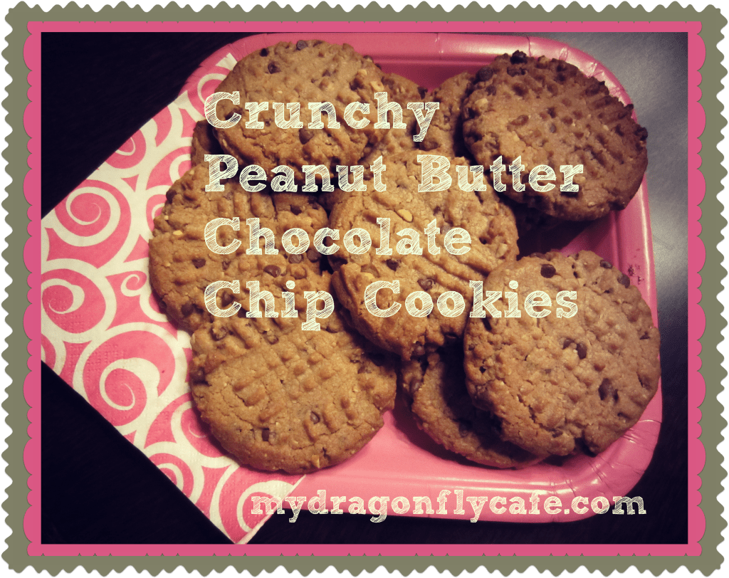 Crunchy Peanut Butter Chocolate Chip Cookies