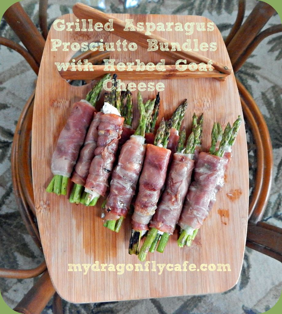 Grilled Asparagus Bundles with Herbed Goat Cheese