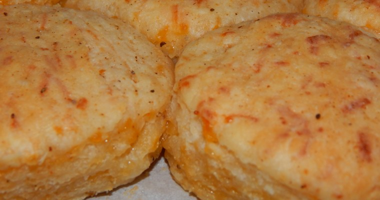 Old Bay Garlic Cheddar Biscuits