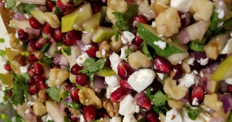 Festive Pear Pomegranate Salsa