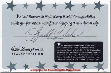 Pursuing the Magic, Veterans Day, Walt Disney World
