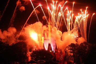 Fireworks over Cinderella Castle