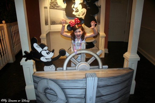 Sophie wanted a shot of her expression of Pete in Steamboat Willie!