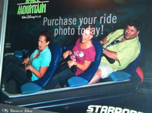 One of the best rides I've ever had on Space Mountain produced this picture!