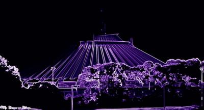 Neon Space Mountain!