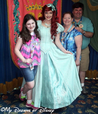 Ariel greeting our family