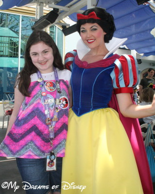 Sophie with Snow White