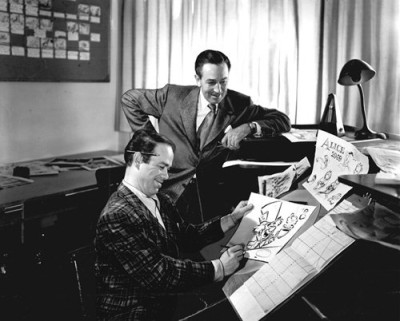 Ward Kimball and Walt Disney. Image courtesy Manicmation.