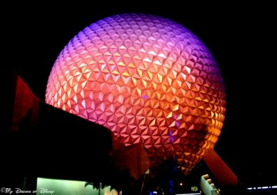 Spaceship Earth, the Epcot Disney Weenie and the symbol of Future World!