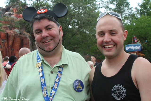 Shane and I having a laugh with my silly Mickey Ears on!