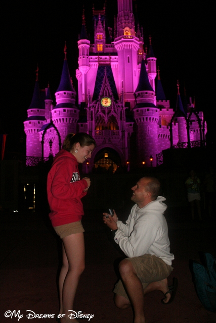 Shane Proposing to Stephanie in front of Cinderella Castle!