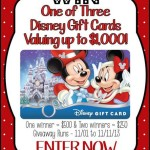 1000 Disney Gift Card Giveaway-Red