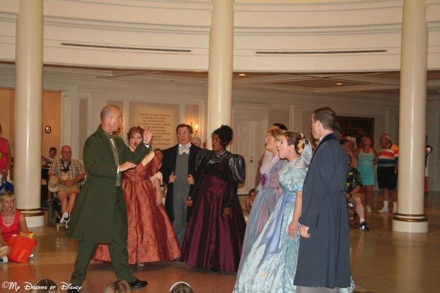 The Voices of Liberty perform inside the American Adventure Pavilion prior to the show!