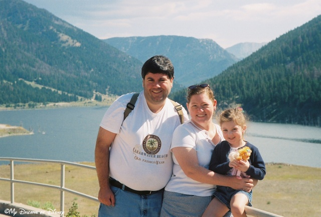 Cindy, Sophie and myself in front of Earthquake Lake in Montana, August, 2005.
