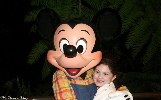 Here are Mickey and Sophie at the Garden Grill Restaurant!