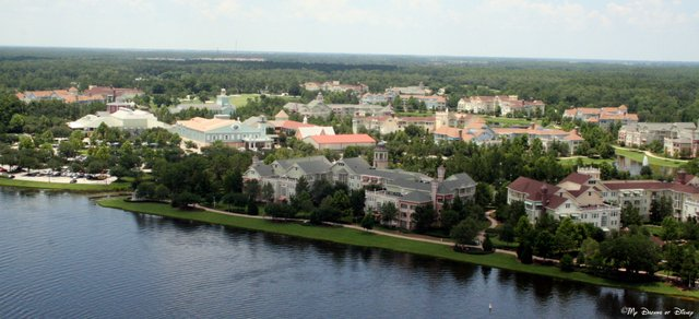 Saratoga Springs Resort as seen from Characters in Flight