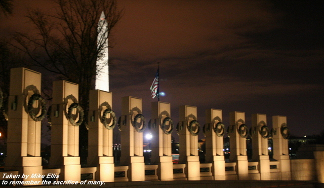 The World War II Memorial pays tribute to the sacrifice of that generation -- a sacrifice that I fear has been forgotten by my generation...