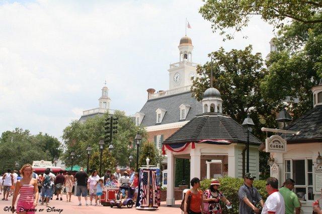 The American Adventure Pavilion in Epcot's World Showcase