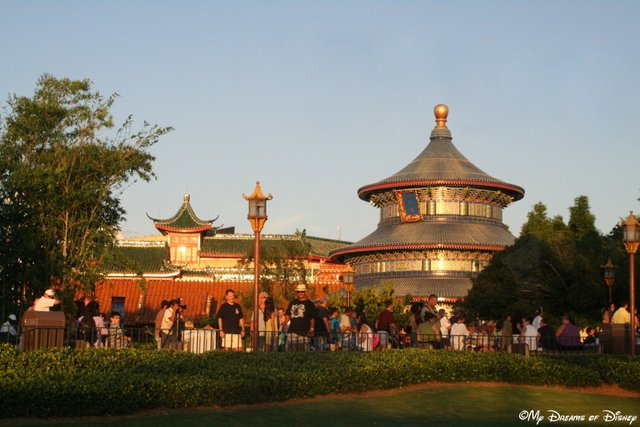 The China Pavilion is very beautiful, and Reflections of China is a great movie to watch too!