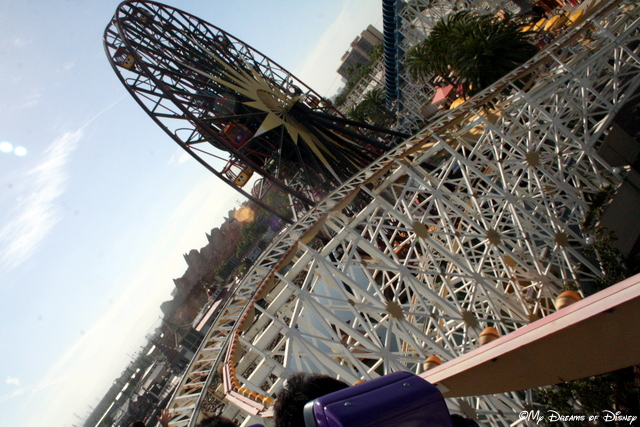 California Screamin' -- bar none, the biggest thrill ride at Disney in my opinion!