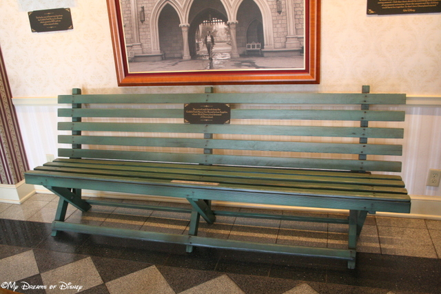 This bench was located in Griffith Park, and was the very park bench where Walt Disney would rest -- and dream up Disneyland!